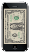 iPhone dollar bill