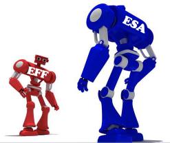 ESA vs. EFF robots