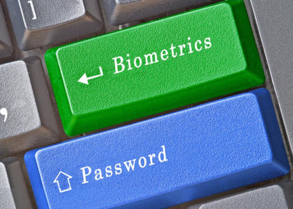 Biometrics and password keys on keyboard