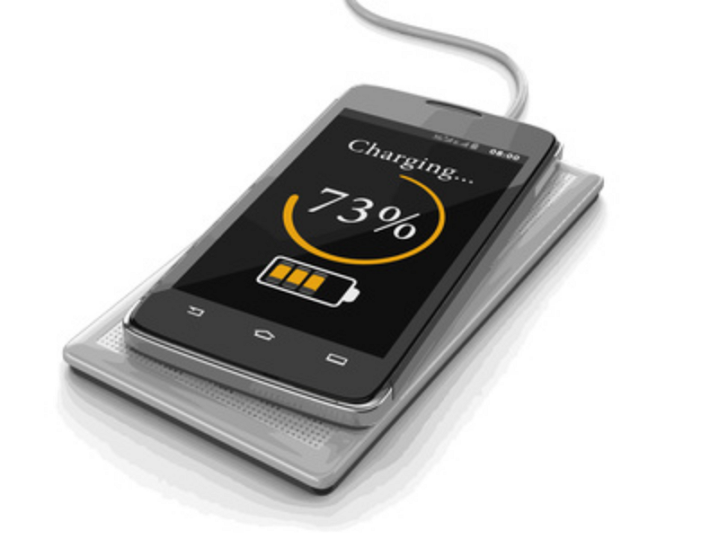 Smartphone charging with wireless charger
