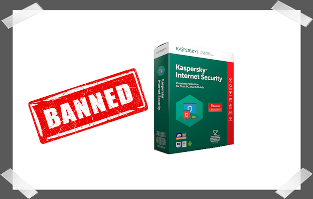 Banned Kaspersky software