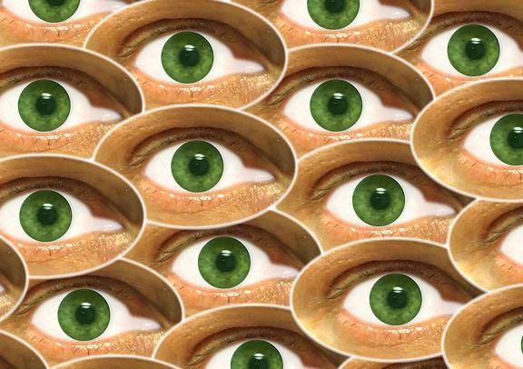 Many eyes staring